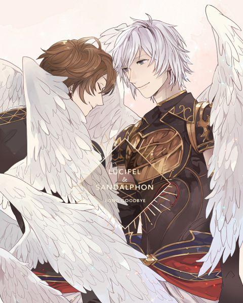 Tags: Anime, Pixiv Id 369676, Granblue Fantasy, Lucifer (Shingeki no Bahamut), Sandalphon (Granblue Fantasy), Fanart, Fanart From Pixiv, Pixiv