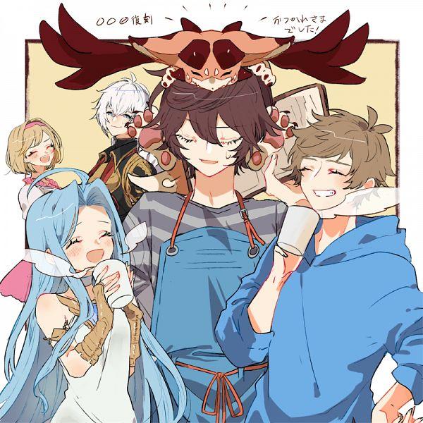 Tags: Anime, Pixiv Id 43795281, Granblue Fantasy, Sandalphon (Granblue Fantasy), Gran (Granblue Fantasy), Lucifer (Shingeki no Bahamut), Lyria (Granblue Fantasy), Gita (Granblue Fantasy), Vee (Granblue Fantasy), Fanart, Fanart From Pixiv, Pixiv