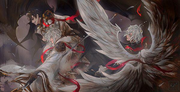 Tags: Anime, Miyukiko, Granblue Fantasy, Belial (Granblue Fantasy), Lucifer (Shingeki no Bahamut), Lucilius (Granblue Fantasy), Pixiv, Fanart, Fanart From Pixiv