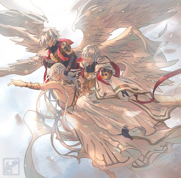 Tags: Anime, Miyukiko, Granblue Fantasy, Belial (Granblue Fantasy), Helel ben Sahar, Lucio (Granblue Fantasy), Lucilius (Granblue Fantasy), Pixiv, Fanart, Fanart From Pixiv