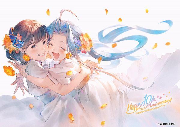 Tags: Anime, Minaba Hideo, Cygames, Granblue Fantasy, Lyria (Granblue Fantasy), Touyama Nao (Character), Facebook Cover, Twitter