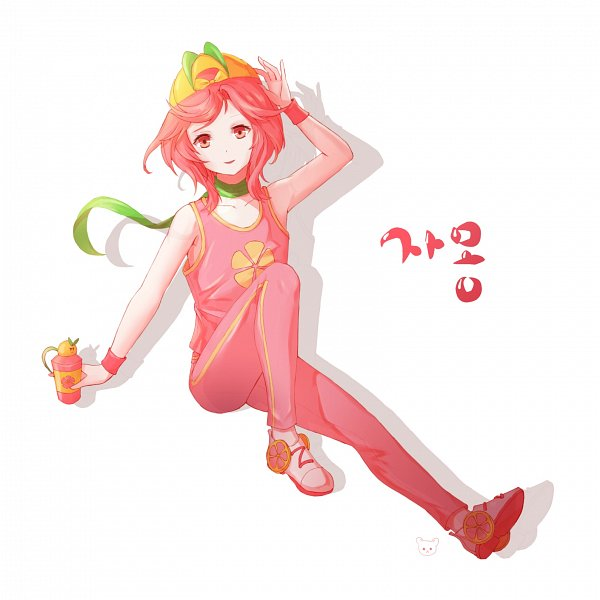 Tags: Anime, Pixiv Id 4104503, Cookie Run: OvenBreak, Cookie Run, Grapefruit Cookie, Juice Tumbler (Cookie Run: Ovenbreak), Red Pants, Roller Skates, Fanart From Pixiv, Pixiv, Fanart