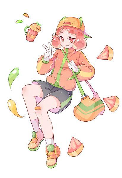 Tags: Anime, Pixiv Id 11373619, Cookie Run: OvenBreak, Cookie Run, Grapefruit Juice Tumbler, Grapefruit Cookie, Fanart From Pixiv, Pixiv, Fanart