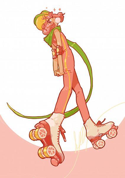 Tags: Anime, Pixiv Id 10277613, Cookie Run: OvenBreak, Cookie Run, Grapefruit Cookie, Roller Skates, Fanart, Fanart From Pixiv, Pixiv