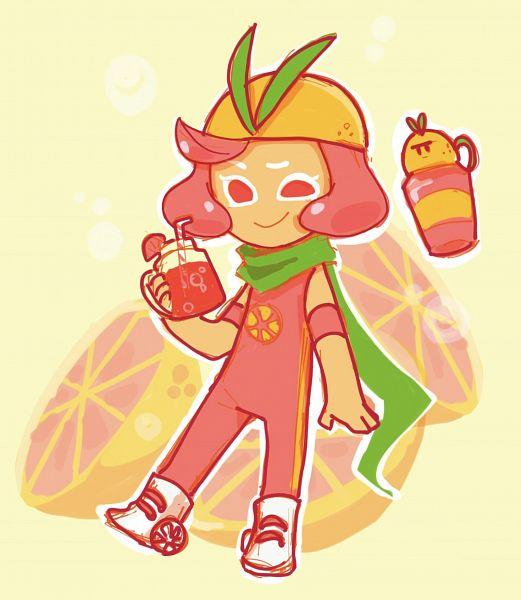 Tags: Anime, Pixiv Id 33369553, Cookie Run: OvenBreak, Cookie Run, Grapefruit Cookie, Juice Tumbler (Cookie Run: Ovenbreak), Roller Skates, Fanart, Fanart From Pixiv, Pixiv