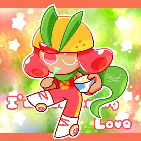 Tags: Anime, Darkerload, Cookie Run: OvenBreak, Cookie Run, Grapefruit Cookie, Holding Spoon, Rollerskates, Fanart, Fanart From Pixiv, Pixiv