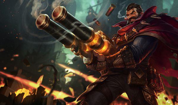 Tags: Anime, Jason Chan, Riot Games, League of Legends, Graves (League of Legends), Cigar, Artist Request, Official Art, Cover Image