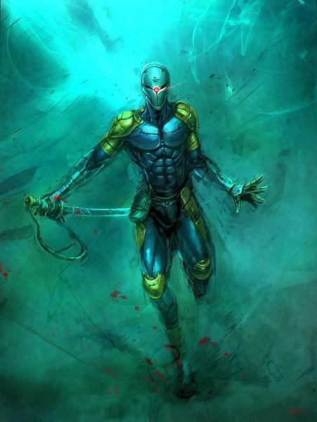 Tags: Anime, KONAMI (Studio), Metal Gear Solid, Gray Fox, Ninja Cyborg, Cybernetic, Mechanic, Fanart