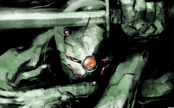 Tags: Anime, KONAMI (Studio), Metal Gear Solid, Gray Fox, Cybernetic, Mechanic, Ninja Cyborg, Wallpaper