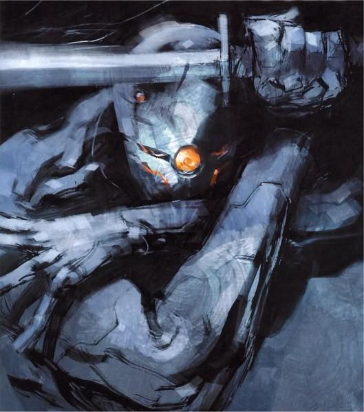 Tags: Anime, KONAMI (Studio), Metal Gear Solid, Gray Fox, Cybernetic, Mechanic, Ninja Cyborg