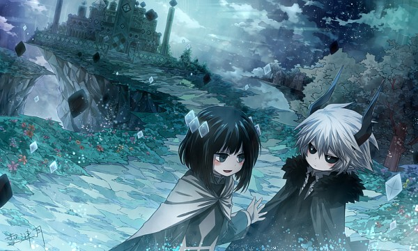 Tags: Anime, Xue Lian Yue, Gray Garden, Kcalb (Gray Garden), Etihw, Fanart From Pixiv, Pixiv, Fanart, The Gray Garden