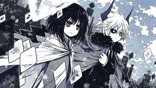 Tags: Anime, Xue Lian Yue, Gray Garden, Etihw, Kcalb (Gray Garden), Facebook Cover, Wallpaper, The Gray Garden