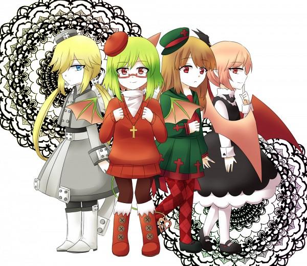 Tags: Anime, Pixiv Id 5700885, Gray Garden, Yosafire, Froze (Gray Garden), Macarona, Rawberry (Gray Garden), The Gray Garden