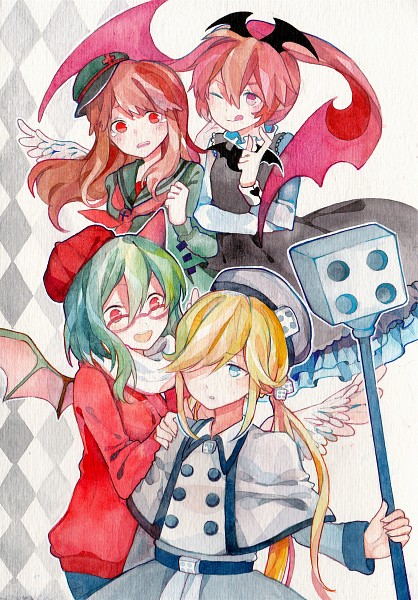 Tags: Anime, Pixiv Id 2498409, Gray Garden, Yosafire, Froze (Gray Garden), Macarona, Rawberry (Gray Garden), Fanart, Fanart From Pixiv, Traditional Media, Pixiv, Mobile Wallpaper, The Gray Garden
