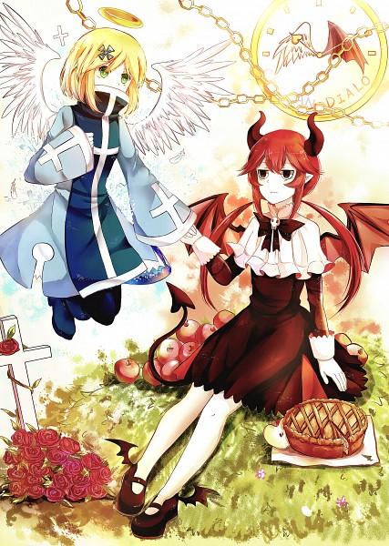 Tags: Anime, Pixiv Id 4588584, Gray Garden, Chelan, Dialo, Mobile Wallpaper, Pixiv, The Gray Garden