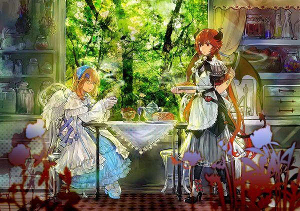 Tags: Anime, Ibaraki, Gray Garden, Dialo, Chelan, Steam, Kitchen, Pixiv, The Gray Garden
