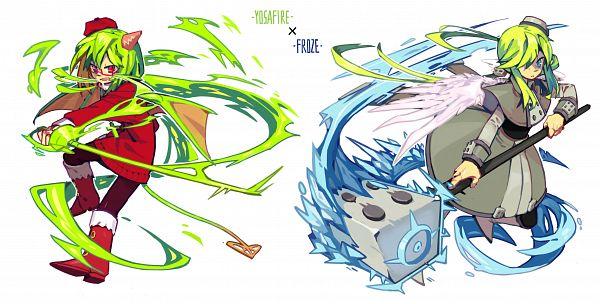 Tags: Anime, Knifedragon, Gray Garden, Froze (Gray Garden), Yosafire, Pixiv, Fanart, Fanart From Pixiv, The Gray Garden