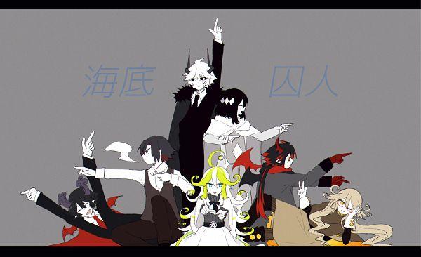 Tags: Anime, Pixiv Id 19083210, Gray Garden, Siralos, Satanick, Ivlis (Gray Garden), Kcalb (Gray Garden), Elux, Fumus, Fanart From Pixiv, Pixiv, Fanart, The Gray Garden