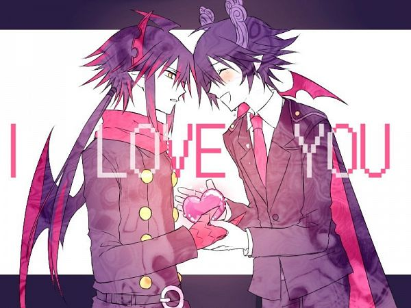 Tags: Anime, Pixiv Id 29693040, Gray Garden, Satanick, Ivlis (Gray Garden), Text: I Love You, Pixiv, Fanart, Deep-Sea Prisoner, Fanart From Pixiv, The Gray Garden