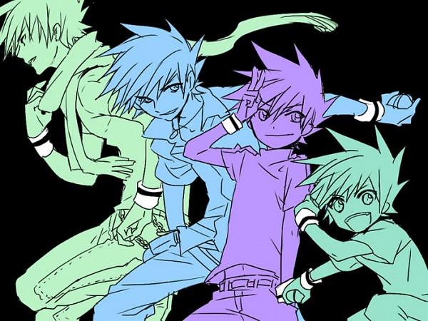 Tags: Anime, Kuronomine, Pokémon, Green (Pokémon), Basic Colors, Age Progression, Fanart, Twitter, Pixiv, Gary Oak