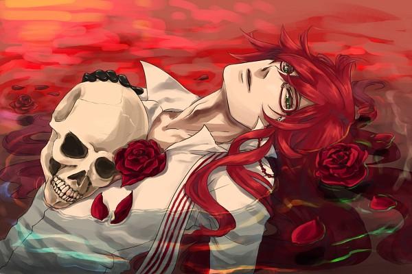 Tags: Anime, Pixiv Id 1400608, Kuroshitsuji, Grell Sutcliff, 1200x800 Wallpaper, Fanart, Pixiv, Wallpaper, Fanart From Pixiv
