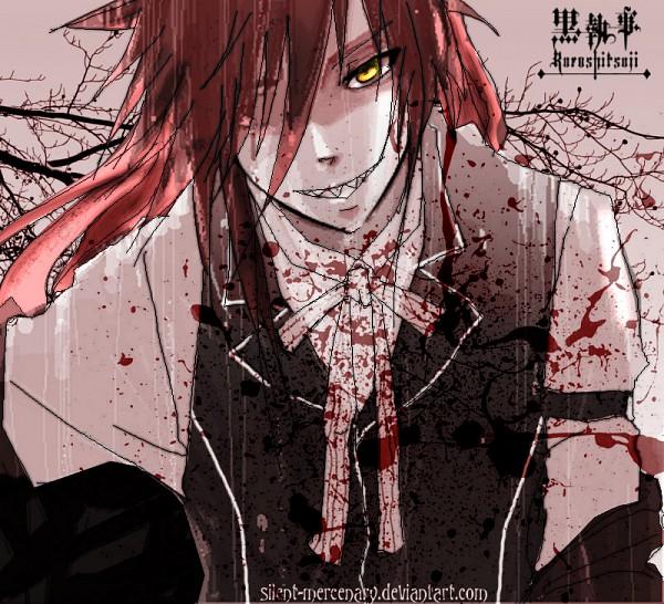 Tags: Anime, Silentmercenary, Kuroshitsuji, Grell Sutcliff, Pixiv, Fanart, deviantART
