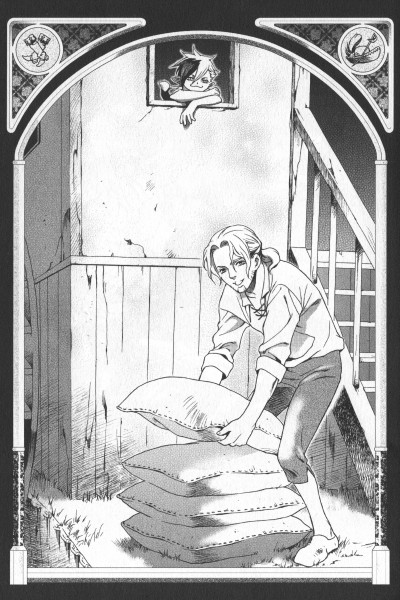 Tags: Anime, Ishiyama Keiko, Grimms Manga, Puss In Boots, Chapter Cover, Scan, Official Art, Manga Page
