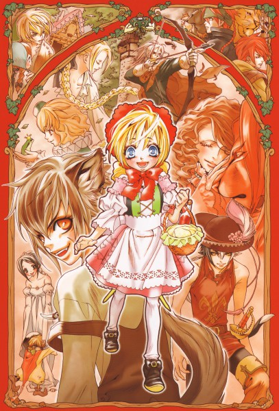 Tags: Anime, Ishiyama Keiko, Rapunzel, Beauty and the Beast, Red Riding Hood, Frog Prince, Snow White and the Seven Dwarfs, Puss In Boots, Hansel and Gretel, Grimms Manga, Big Bad Wolf, Rapunzel (Character), Snow White