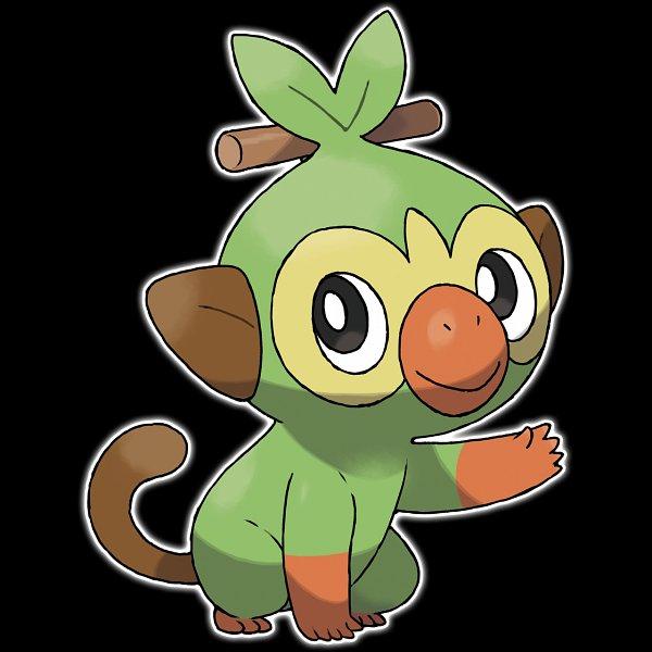 Tags: Anime, GAME FREAK, Pokémon Sword & Shield, Pokémon, Grookey, Monkey, Official Art