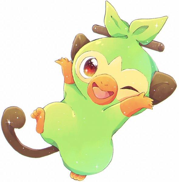 Tags: Anime, Pixiv Id 6137044, Pokémon Sword & Shield, Pokémon, Grookey, Pixiv, Fanart, Fanart From Pixiv