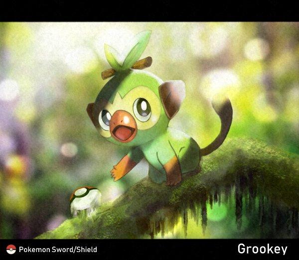 Tags: Anime, Pixiv Id 36404078, Pokémon Sword & Shield, Pokémon, Grookey, Fanart From Pixiv, Pixiv, Fanart