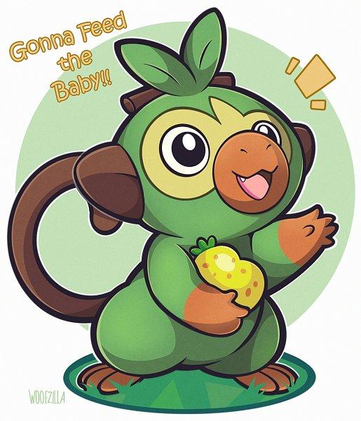 Tags: Anime, Woofzilla, Pokémon Sword & Shield, Pokémon, Grookey, Fanart