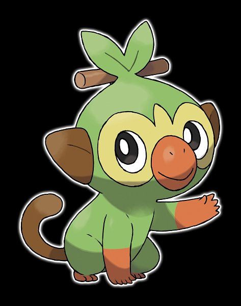 Tags: Anime, GAME FREAK, Pokémon Sword & Shield, Pokémon, Grookey, Monkey, Official Art