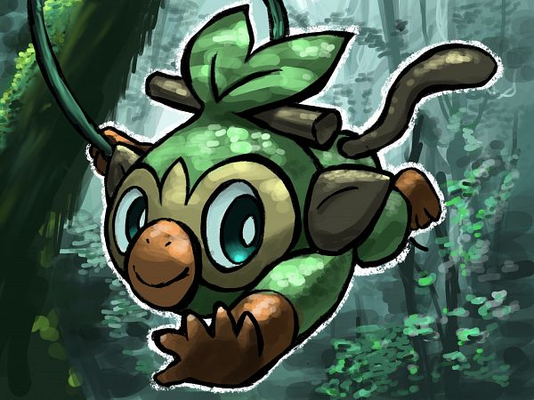 Tags: Anime, Pixiv Id 24704749, Pokémon Sword & Shield, Pokémon, Grookey