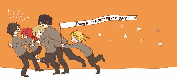 Tags: Anime, Pixiv Id 480189, Harry Potter, Sirius Black, Peter Pettigrew, Lily Evans, James Potter, Remus Lupin, Pounce, Facebook Cover, Pixiv, Fanart, Gryffindor House