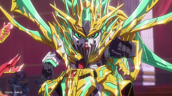 Tags: Anime, Sunrise (Studio), SD Gundam World Sangoku Soketsuden, Guan Yu ν Gundam, Twitter, Wallpaper, Official Art, HD Wallpaper, Screenshot, Gundams