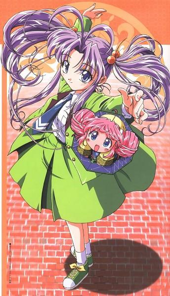 Tags: Anime, Sakurano Minene, Toei Animation, Guardian Angel Getten, Rishu, Shugogetten Shaorin, Magazine (Source), Scan, Official Art