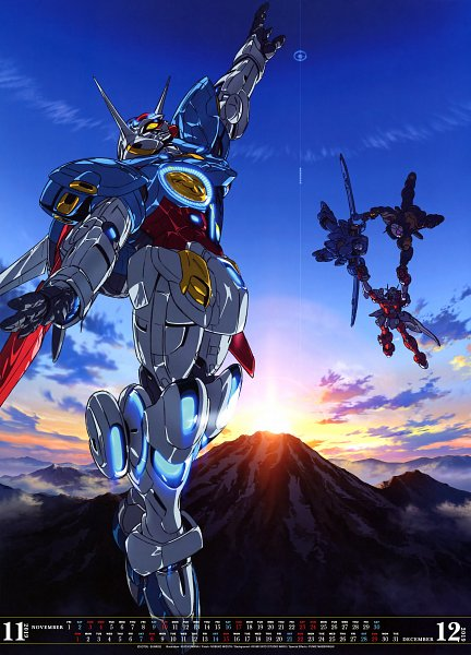 Tags: Anime, Kuwana Ikuo, Gundam: G no Reconguista, Sunrise, Morning, Calendar (Source), Official Art, Calendar 2019, Scan, Gundam Reconguista In G