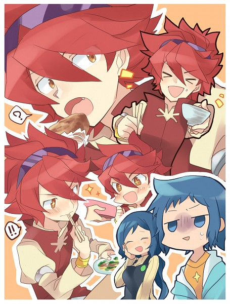 Tags: Anime, Pixiv Id 3446824, Gundam Build Fighters, Reiji (Gundam Build Fighters), Iori Sei, Iori Rinko, Fanart From Pixiv, Pixiv, Fanart