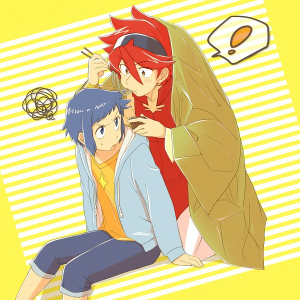Tags: Anime, Pixiv Id 7668335, Gundam Build Fighters, Reiji (Gundam Build Fighters), Iori Sei, Fanart, Fanart From Pixiv, Pixiv