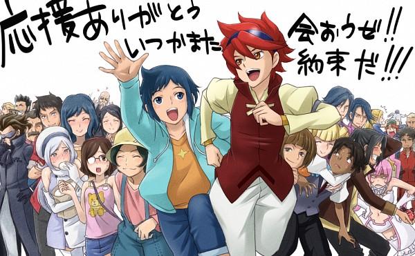Tags: Anime, Pixiv Id 2138484, Gundam Build Fighters, Chin'an Shishou, Julio Renato, Monta Gonda, Kousaka China, Greco Logan, Yasaka Mao (Gundam Build Fighters), Yajima Caroline, Alan Adams, Baker (gundam Build Fighters), Iori Rinko