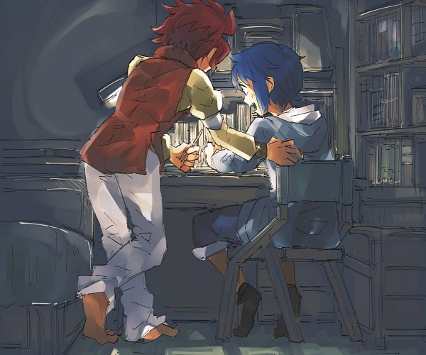 Tags: Anime, Pixiv Id 196186, Gundam Build Fighters, Reiji (Gundam Build Fighters), Iori Sei, Fanart From Pixiv, Pixiv, Fanart