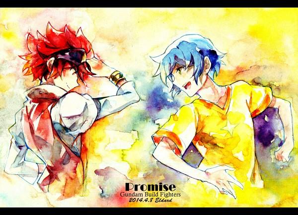 Tags: Anime, Pixiv Id 802899, Gundam Build Fighters, Reiji (Gundam Build Fighters), Iori Sei, Watercolor, Traditional Media, Pixiv