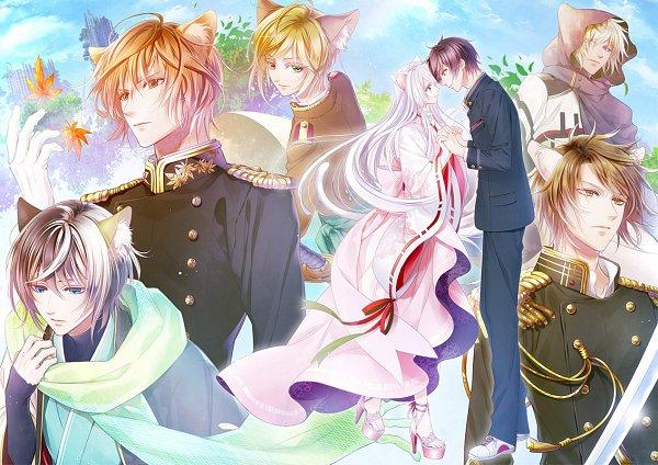 Tags: Anime, Murasaki Mai, Primula (Studio), Gunka O Haita Neko, Yuzu (Gunka o Haita Neko), Kitty (Gunka o Haita Neko), Shed, Tama (Gunka o Haita Neko), Ku-nyan, Kotarou (Gunka o Haita Neko), Kamiya Ibuki, Official Art
