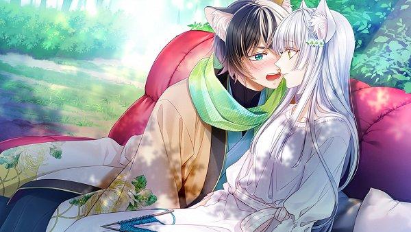 Tags: Anime, Murasaki Mai, Primula (Studio), Gunka O Haita Neko, Tama (Gunka o Haita Neko), Ku-nyan, CG Art, Official Art