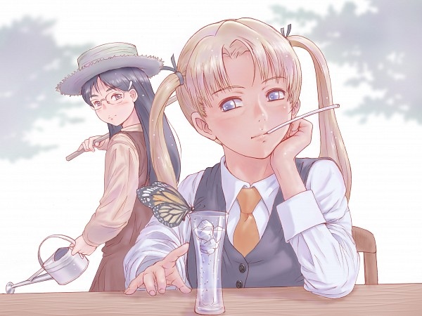 Tags: Anime, Yoshizou, Gunslinger Girl, Claes, Triela, Pixiv, Fanart From Pixiv, Fanart