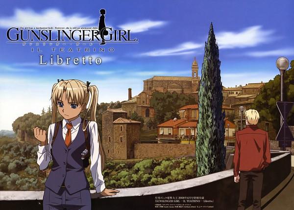 Tags: Anime, Sugimitsu Noboru, Gunslinger Girl, Triela, Pinocchio (Gunslinger)