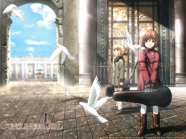 Tags: Anime, Abe Hisashi, Gunslinger Girl, Rico (Gunslinger Girl), Henrietta (Gunslinger Girl), Wallpaper