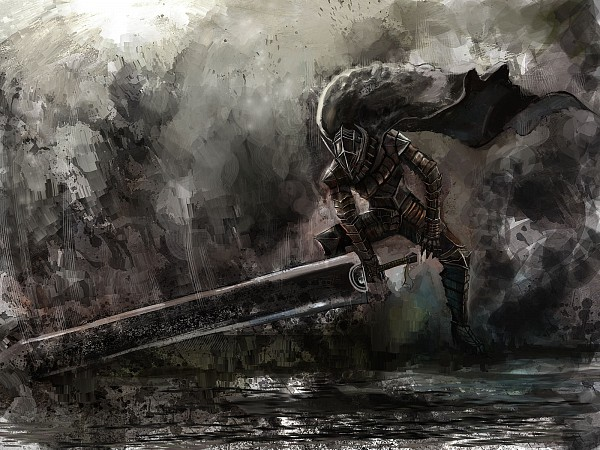 Tags: Anime, Bccp, BERSERK (Kentaro Miura), Guts (BERSERK), Knight, The Dragonslayer, Huge Weapon, Wallpaper