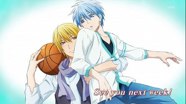 Tags: Anime, Kikuchi Youko, Production I.G., Kuroko no Basuke, Kuroko Tetsuya, Kise Ryouta, Layered Clothes, Facebook Cover, Official Art, Kuroko no Basuke - End Cards, Gyakushuu Yoroshiku!, Screenshot, End Cards